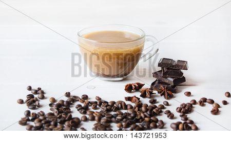 Anis and black chokolate on the tab