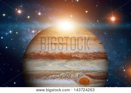 Solar System - Jupiter. It Is The Fifth Planet From The Sun And The Largest In The Solar System. Its