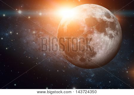 Solar System - Earths Moon. The Moon Is Earth's Only Natural Satellite. It Is One Of The Largest Nat