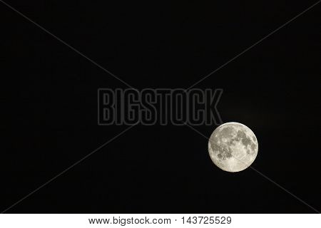 The moon, Lunar in the black night.