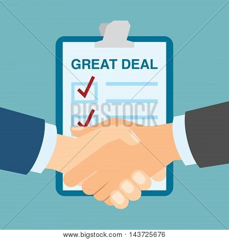 Great deal handshake. Concept of great partnership and success. Business teamwork.