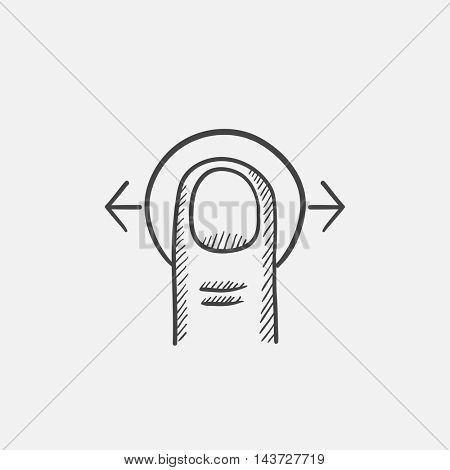 Drag horizontally sketch icon for web, mobile and infographics. Hand drawn vector isolated icon.