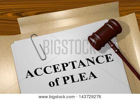 Acceptance Of Plea - Legal Concept