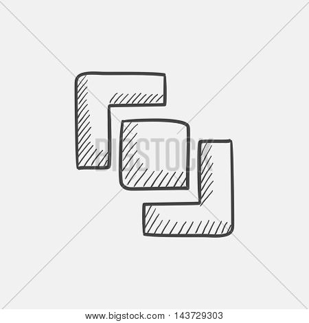 Divide sketch icon for web, mobile and infographics. Hand drawn vector isolated icon.
