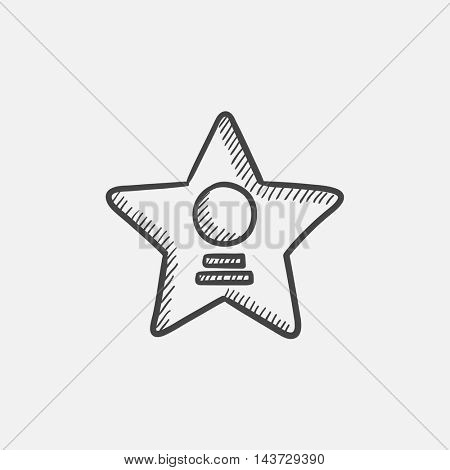 Cinema star sketch icon for web, mobile and infographics. Hand drawn vector isolated icon.