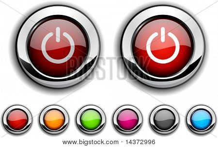Switch realistic buttons. Vector illustration.