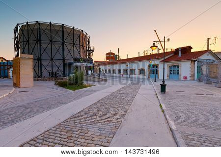 ATHENS, GREECE - AUGUST 21, 2016: Technopolis in Gazi neighborhood, Athens on August 21, 2016.
