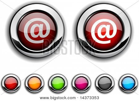 Arroba realistic buttons. Vector illustration.