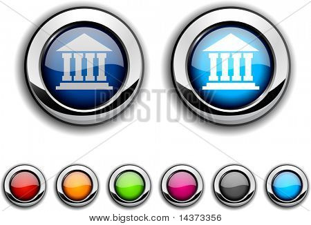 Exchange realistic buttons. Vector illustration.