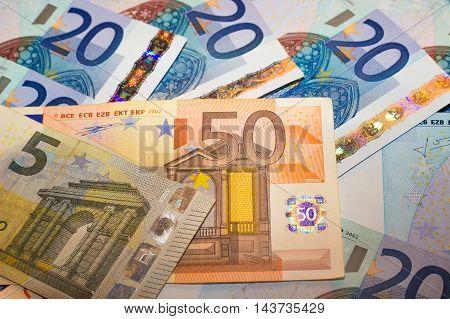 Euros - 50, 20 and 5 euro