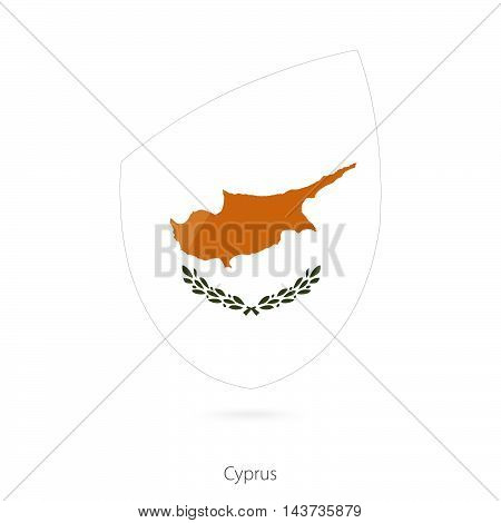 Flag Of Cyprus In The Style Of Rugby Icon.