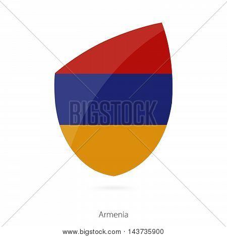 Flag Of Armenia. Armenian Rugby Flag.
