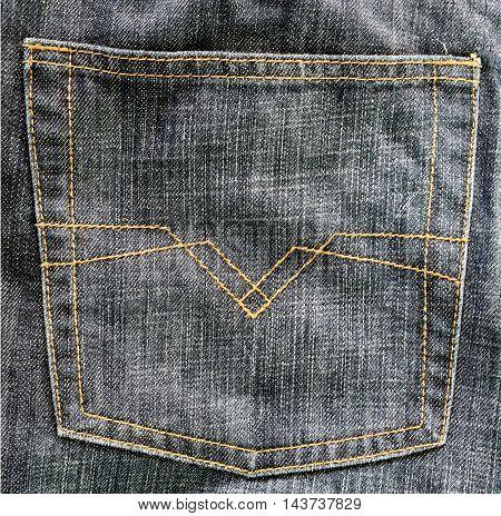 denim back pocket close up jeans texture