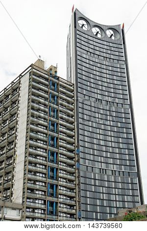 LONDON ENGLAND - JULY 8 2016: The Strata nicknamed