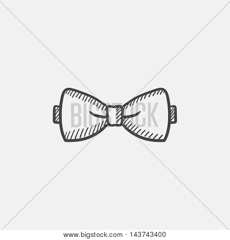 Bow-tie sketch icon for web, mobile and infographics. Hand drawn vector isolated icon.