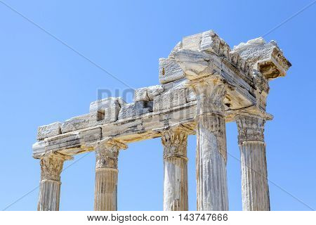 urkey Ruins of the Temple of Apollo located in Antalya.