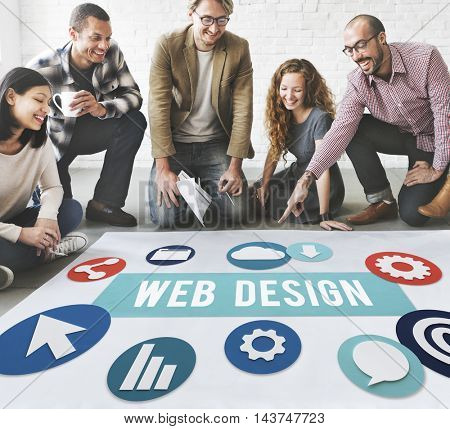 Web Design Teamwork Concept