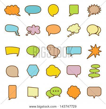 Speech Bubble icons set.Vector