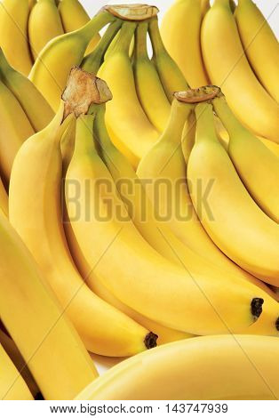 Yellow bananas isolation sweet fruit fresh raw food