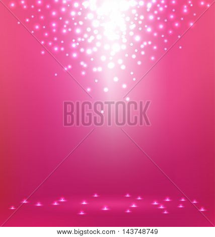 Beautiful abstract magic Light on pink background