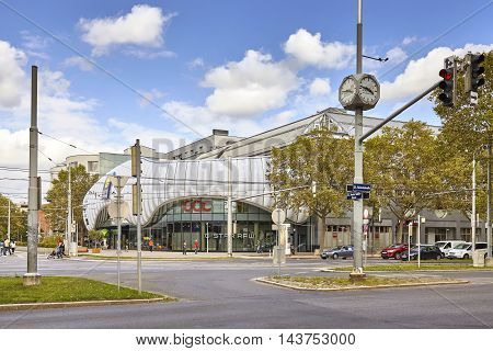 Vienna, Austria - August 13, 2016: Exterior Of Donau Zentrum At Wagramer Street, One Of The Biggest