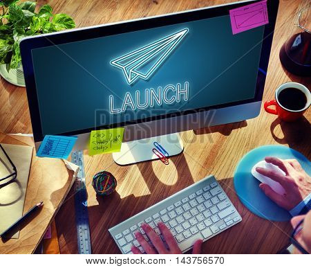 Launch Business Mission Startup Begin Mission Concept