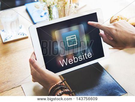 Website Network Online Communication Concept