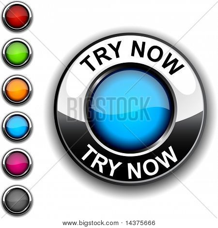 Try now realistic button. Vector.