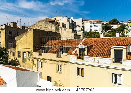 Architecture landscape in Lisbon in Portugal Europe