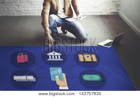 Finance Baggage Credit Currency Journey Concept