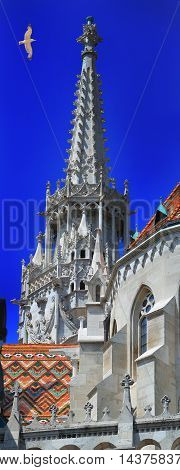 13.06.2015. Matthias Church one of the famous attractions in Hungary.