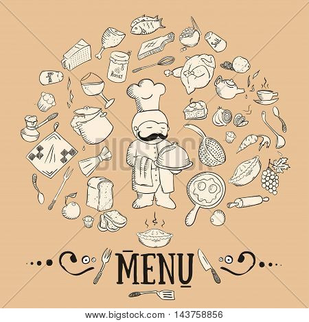 Hand Drawn Vintage Style Kitchen Icon
