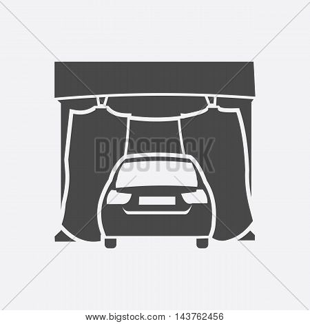 Car wash icon style. Single silhouette auto parts icon from the big car set - stock vector