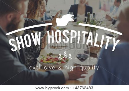 Hospitality Tourism Visitors Catering Welcomeing Concept