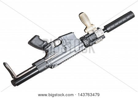 The rifle BB gun isolated white background