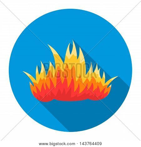 Fire icon flat style. Single silhouette fire equipment icon from the big fire Department flat - stock vector
