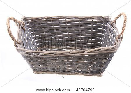 Old Natural Basket Isolated