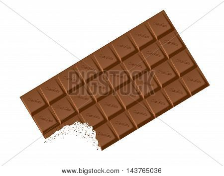 A typical bar of white Chocolate as a background
