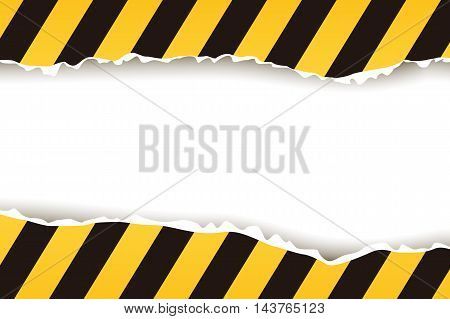 illustration of torned stripped yellow black background
