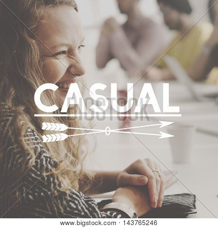 Casual Cheerful Beautiful Happy Daily Concept