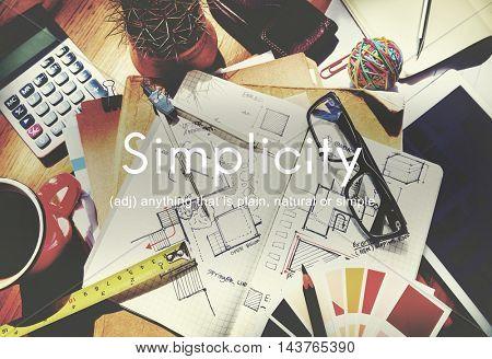 Simplicity Minimalist Easiness Design Simpleness Concept