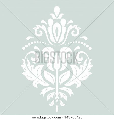 Elegant vector ornament in the style of barogue. Abstract traditional pattern with oriental elements