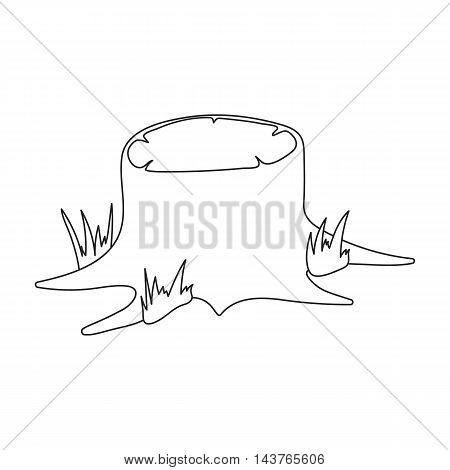 Stump vector illustration icon in line design