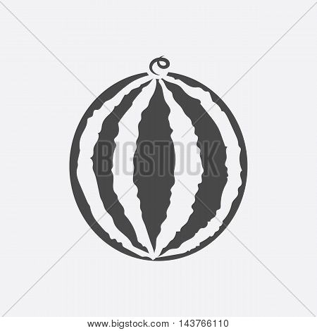 Watermelon icon black. Singe fruit icon from the food collection.