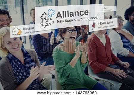 Alliance Merge Partnership Collaboration Concept