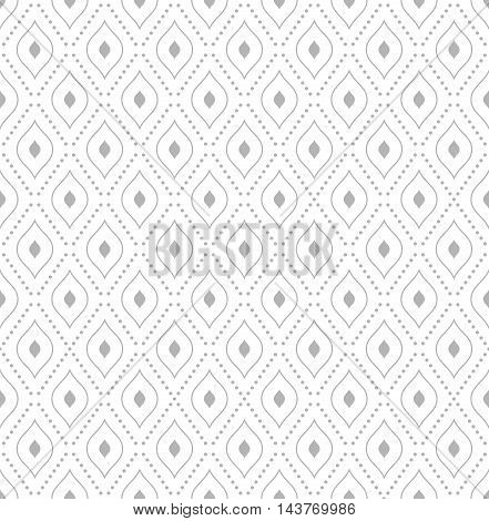 Geometric repeating vector light silver pattern. Seamless abstract modern texture for wallpapers and backgrounds