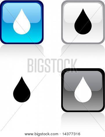 Rain glossy square vibrant buttons.