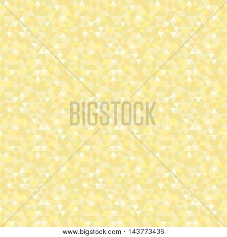 Geometric vector pattern with golden triangles. Seamless abstract background