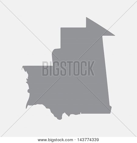 Mauritania map in gray on a white background. Vector illustration