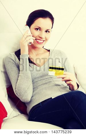 Shopping on the phone.